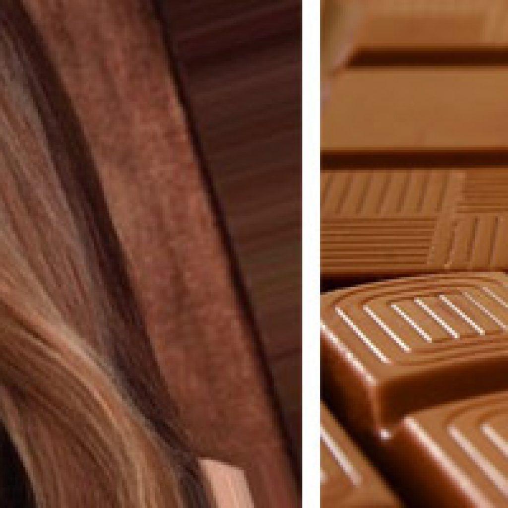 Волосы оттенка молочный шоколад