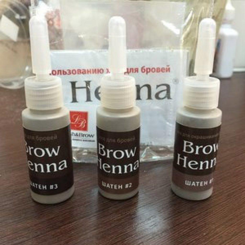 Окрашивание бровей хной марки Brow henna
