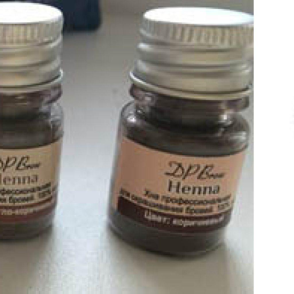 Применение хны Brow henna