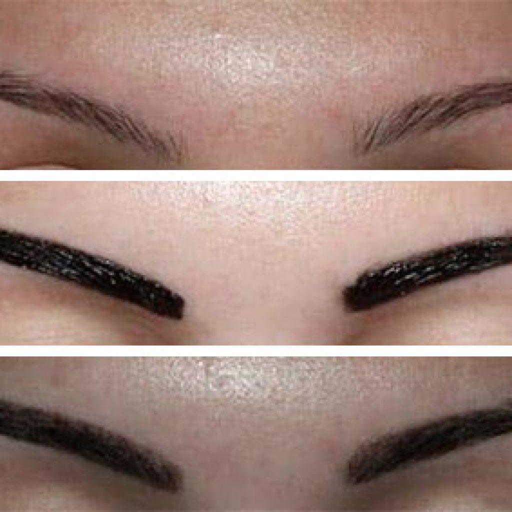 Результат нанесения Brow Henna