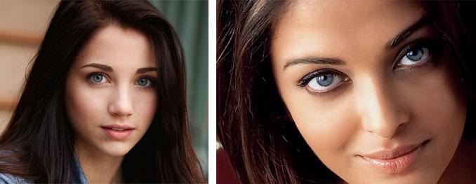 Шоколадные локоны и голубые глаза