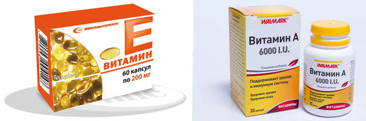 Витамины А и Е для ресниц