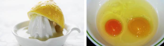 Желток с лимоном для волос