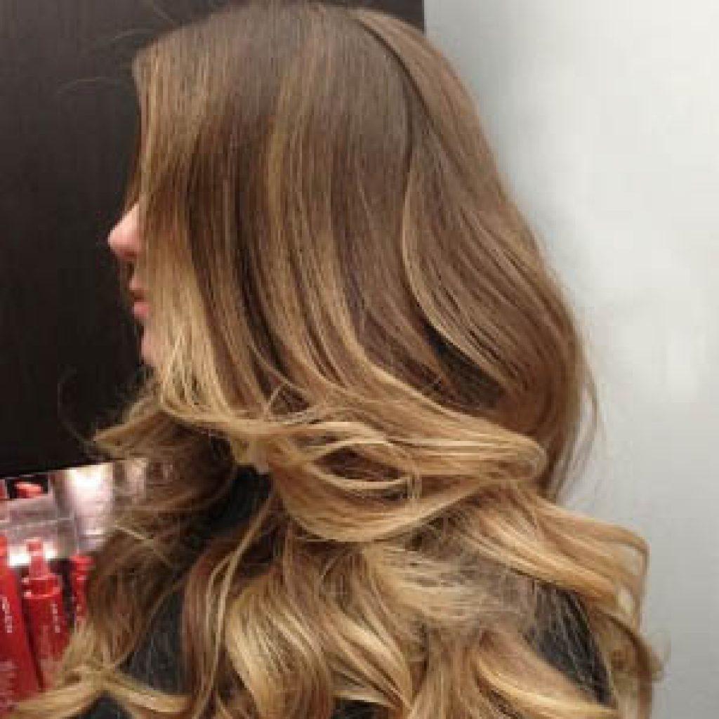 Окрашивание балаяж на волосах русого цвета - описание и фото