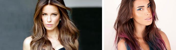 Покраска волос в два цвета