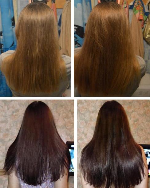 После процедур для волос