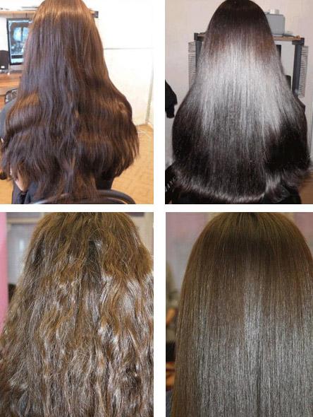 После желатинового ламинирования для волос