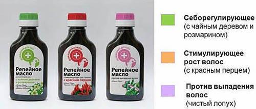 Аптечные масла из репейника