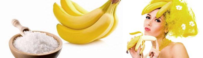 Бананово-солевая маска