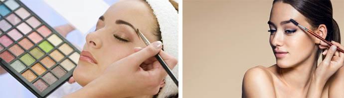 Как наносить тени на брови