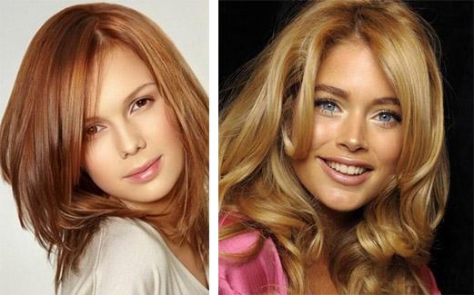Карамельный и золотистый оттенки волос