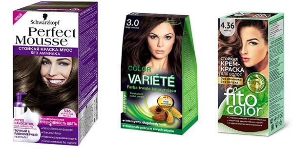 Краски для волос разных брендов