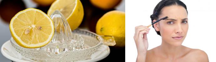 Лимонный сок для устранения татуажа