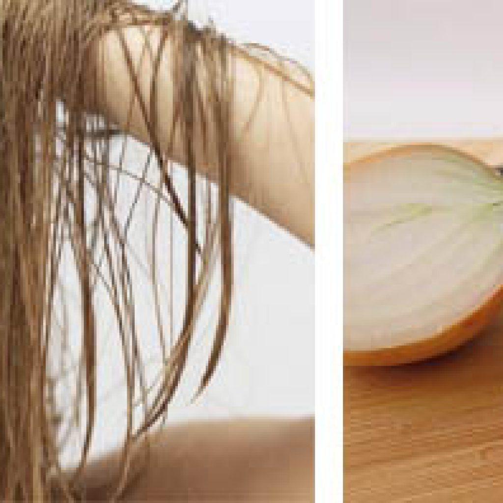 Лук при потере волос