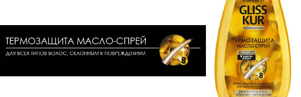 Масло-спрей Gliss Kur