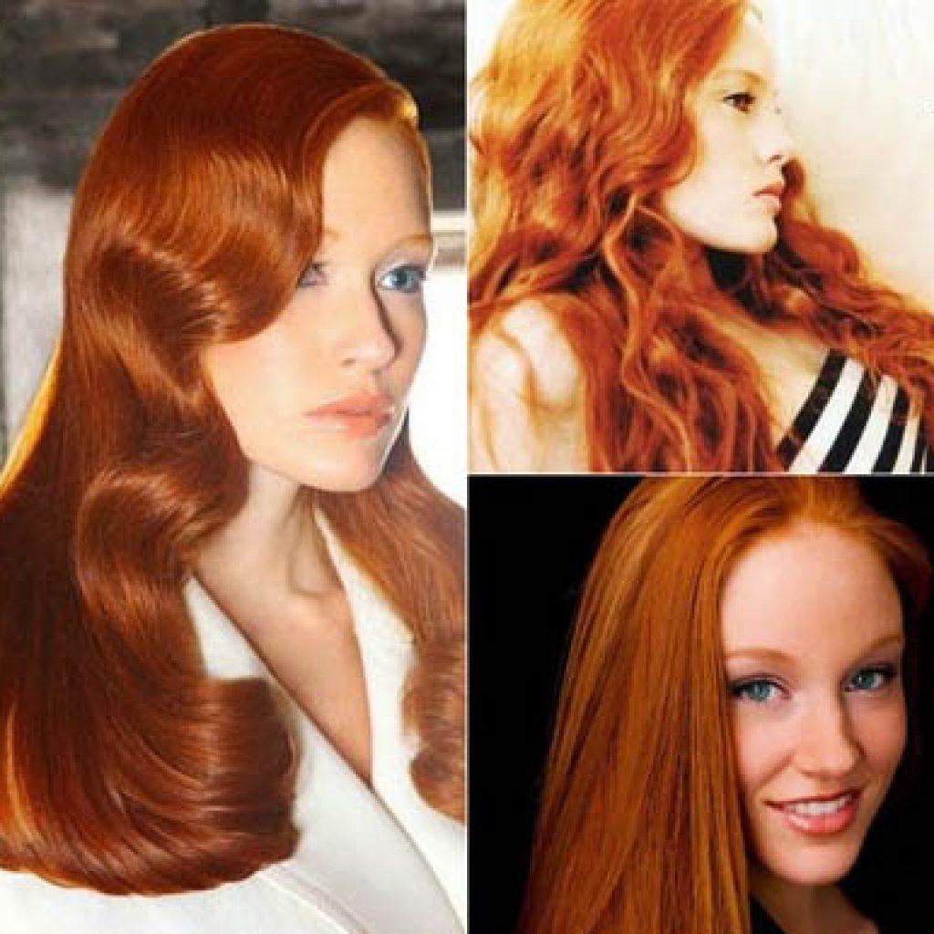 Медно-золотистые волосы
