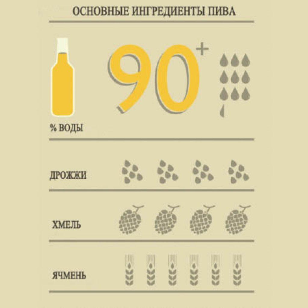 Основные ингредиенты пива
