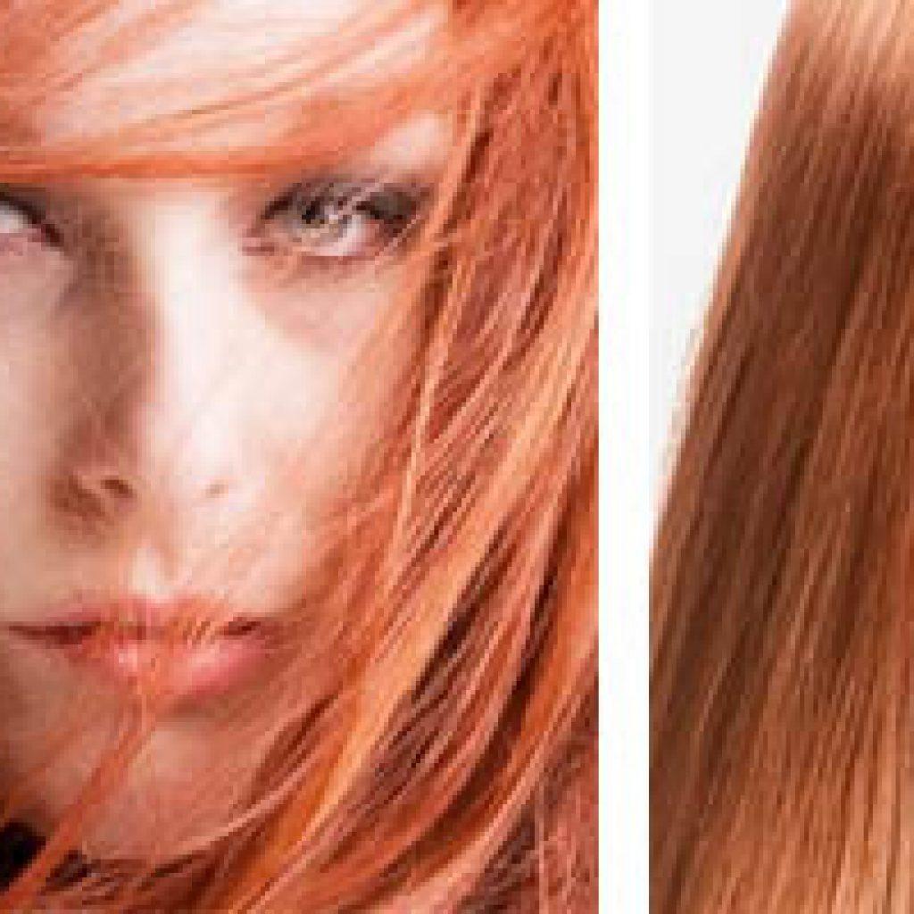 Терракотовый тон волос