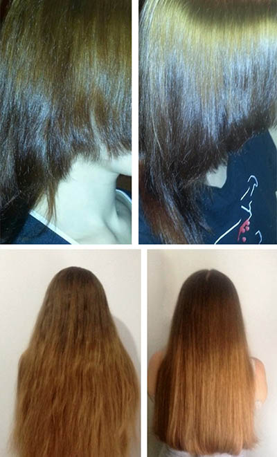 Фото до и после масляных масок