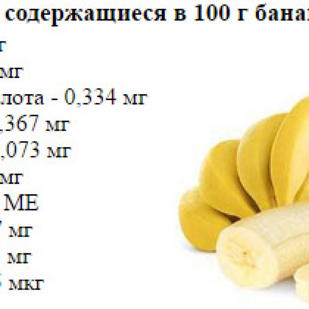 Витамины в бананах