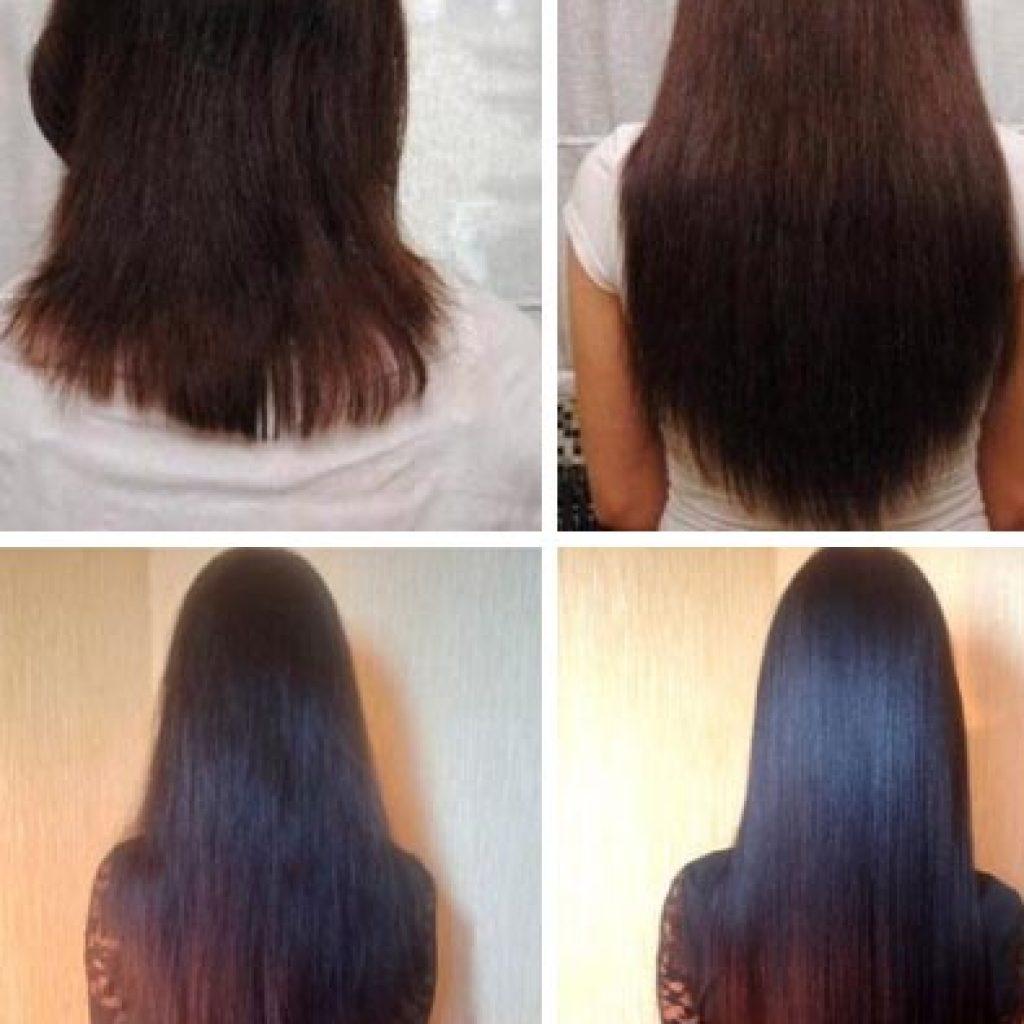До и после нанесения перцовки