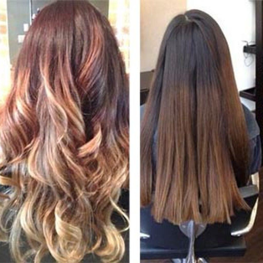 До и после покраски прядей