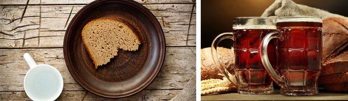 Маска из пива и хлеба