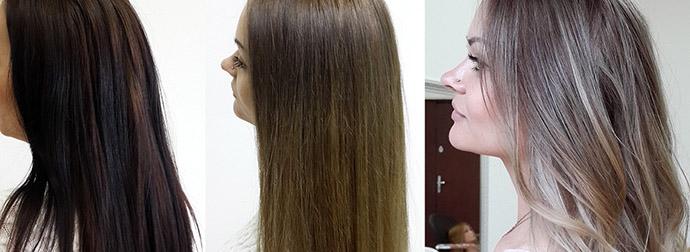 Осветление и окрашивание волос