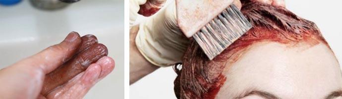 Очищение кожи после покраски