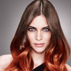 Покраска волос в стиле амбре - фото после окрашивания
