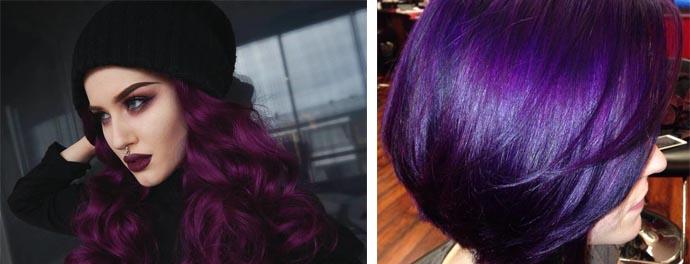 Темно-фиолетовые волосы