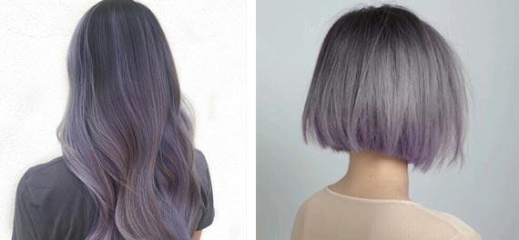 Фиолетовый с пепельным оттенком