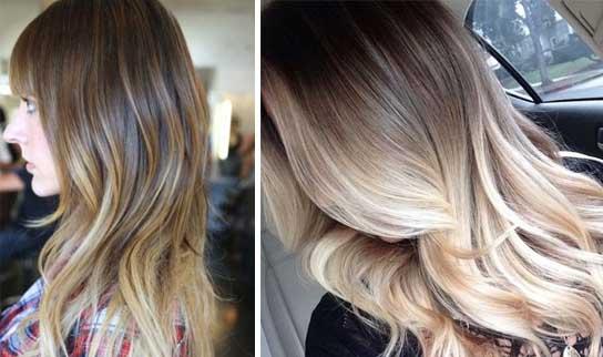 Фото волос с омбре
