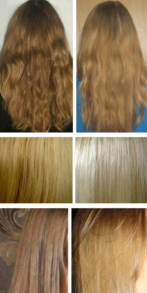 Фото до и после осветления