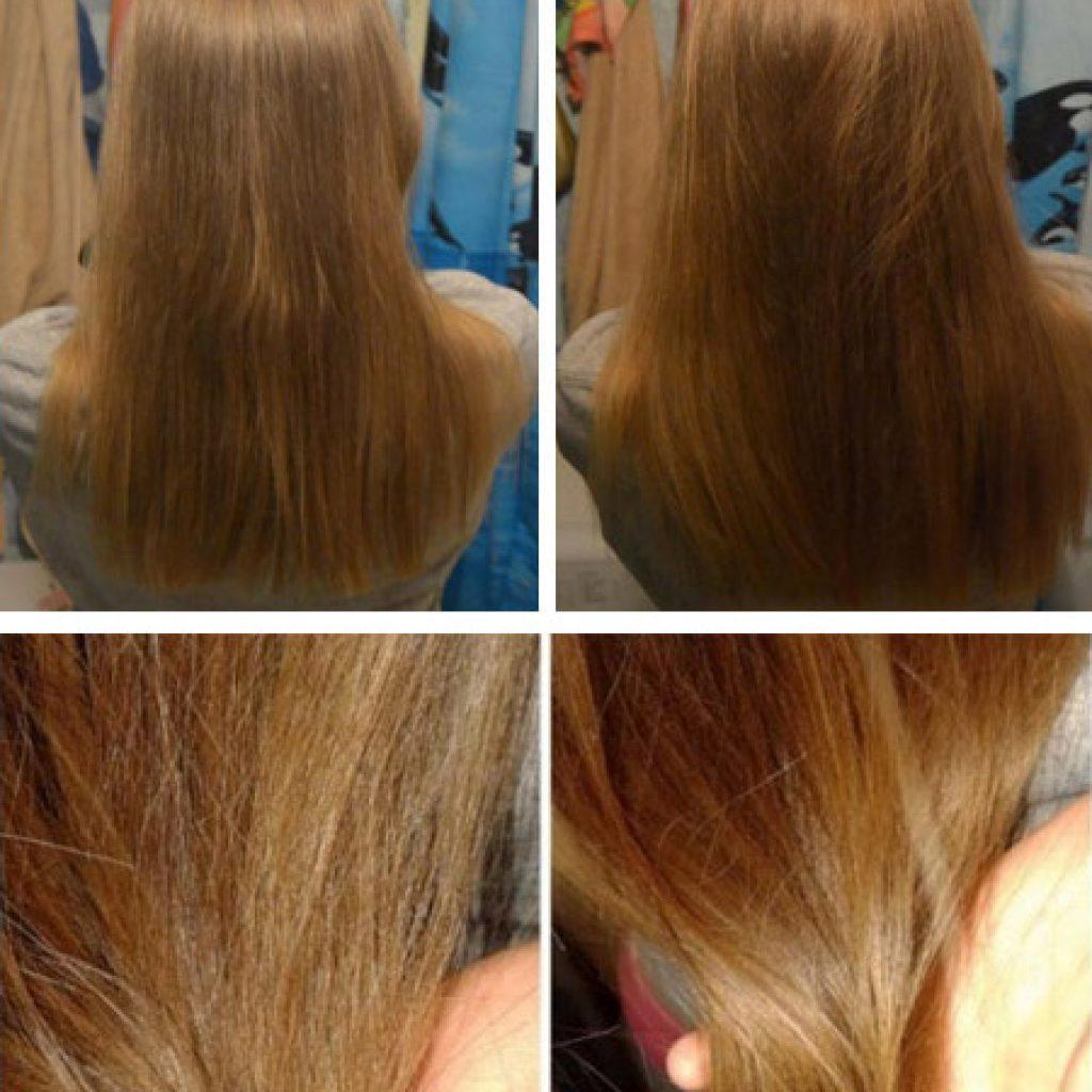Фото до и после применения масла
