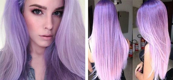 Цвет сирени для волос