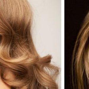 Волосы с золотым отливом