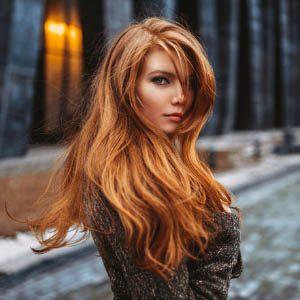 Волосы рыжих оттенков